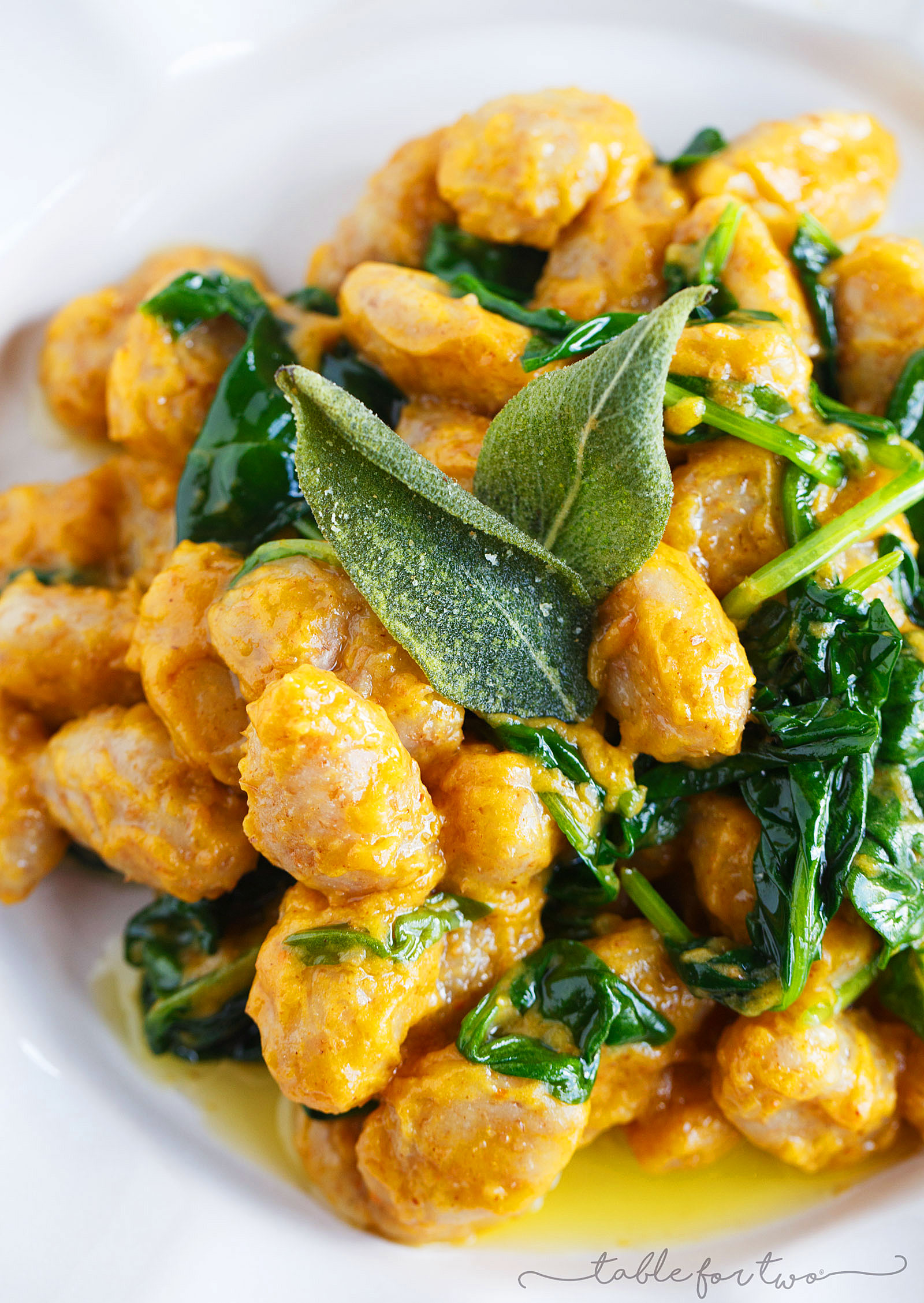 Whole Wheat Gnocchi with Brown Butter and Sage Pumpkin Sauce - Table ...