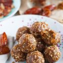 These pumpkin pie energy snack balls are the perfect sweet treat for the season! They're naturally sweetened and will curb any sweet tooth but you won't feel bad about it!