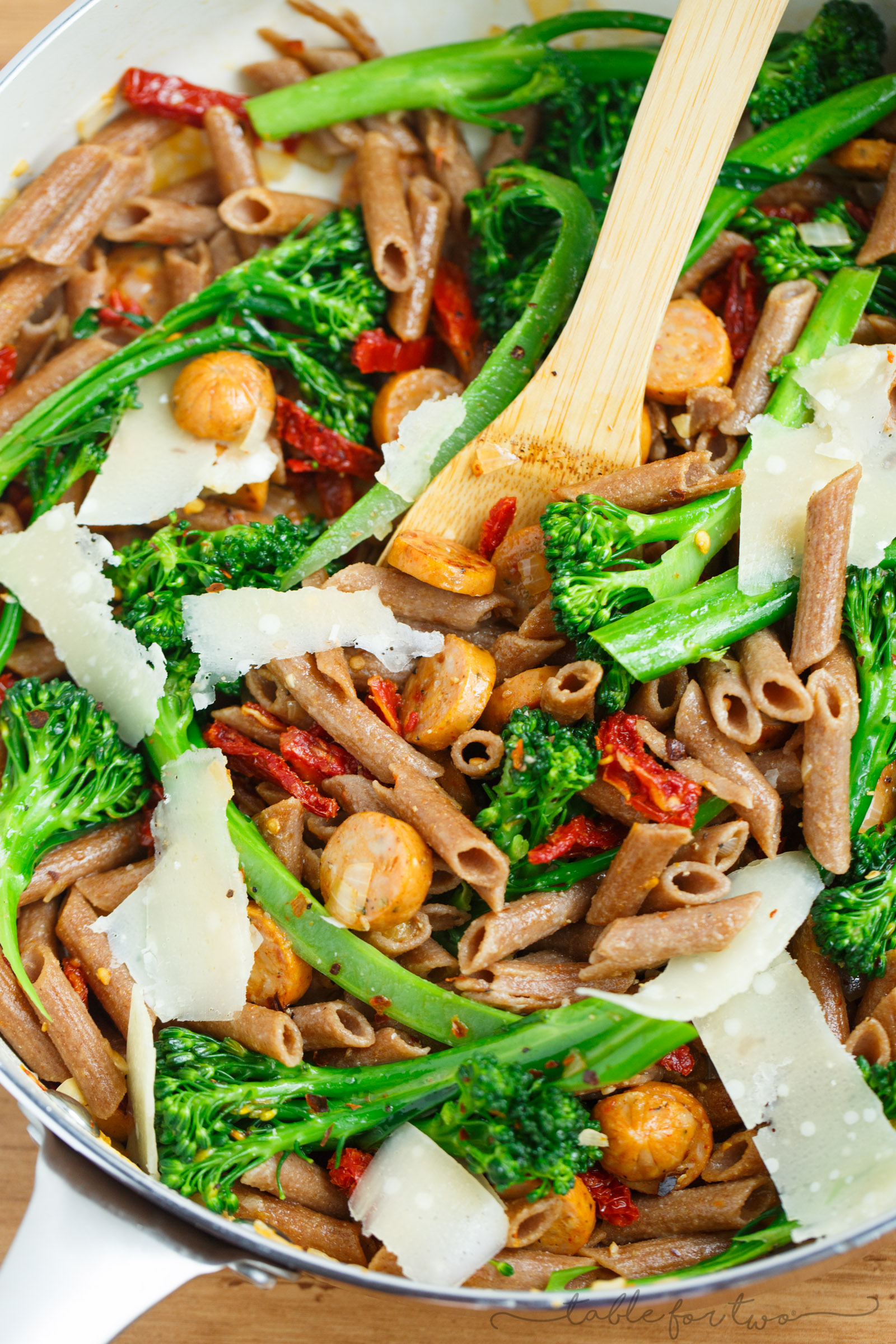 Broccoli Rabe With Pasta And Sun Dried Tomatoes Recipe — Dishmaps