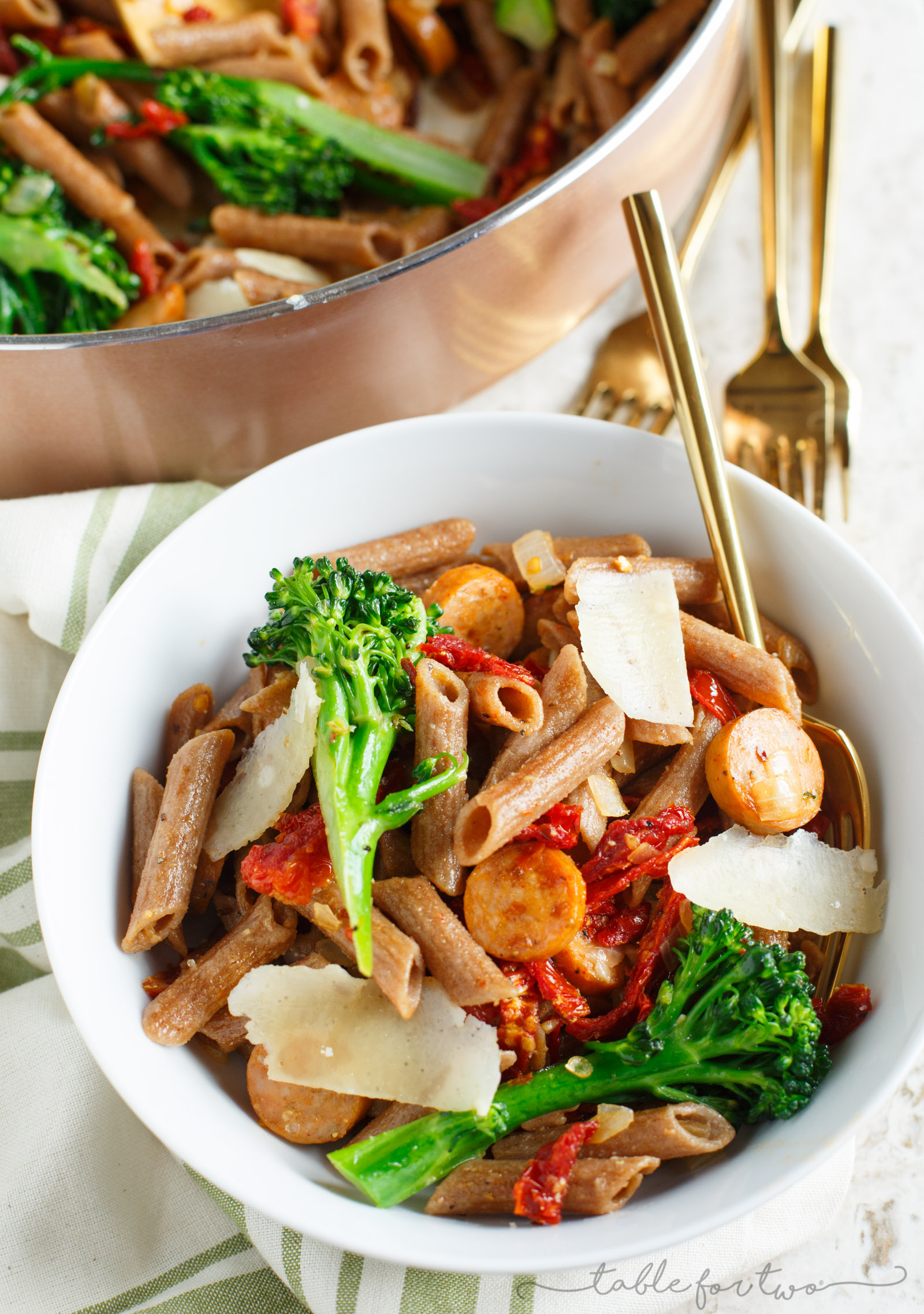 Whole Wheat Penne with Broccoli Rabe, Chicken Sausage, and ...