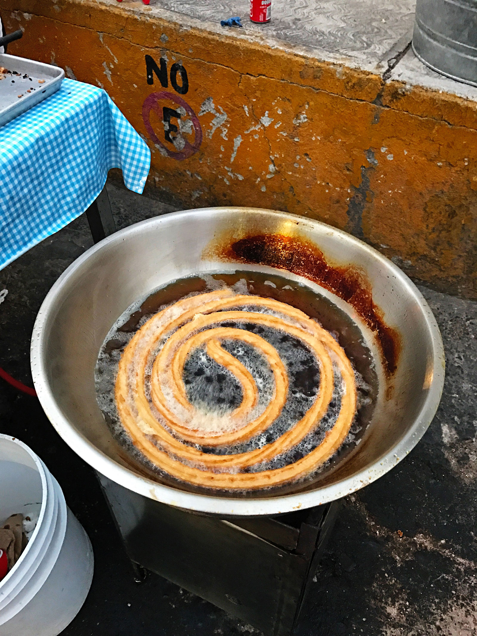 Roadside Mexican Churros in Puerto Vallarta, Mexico
