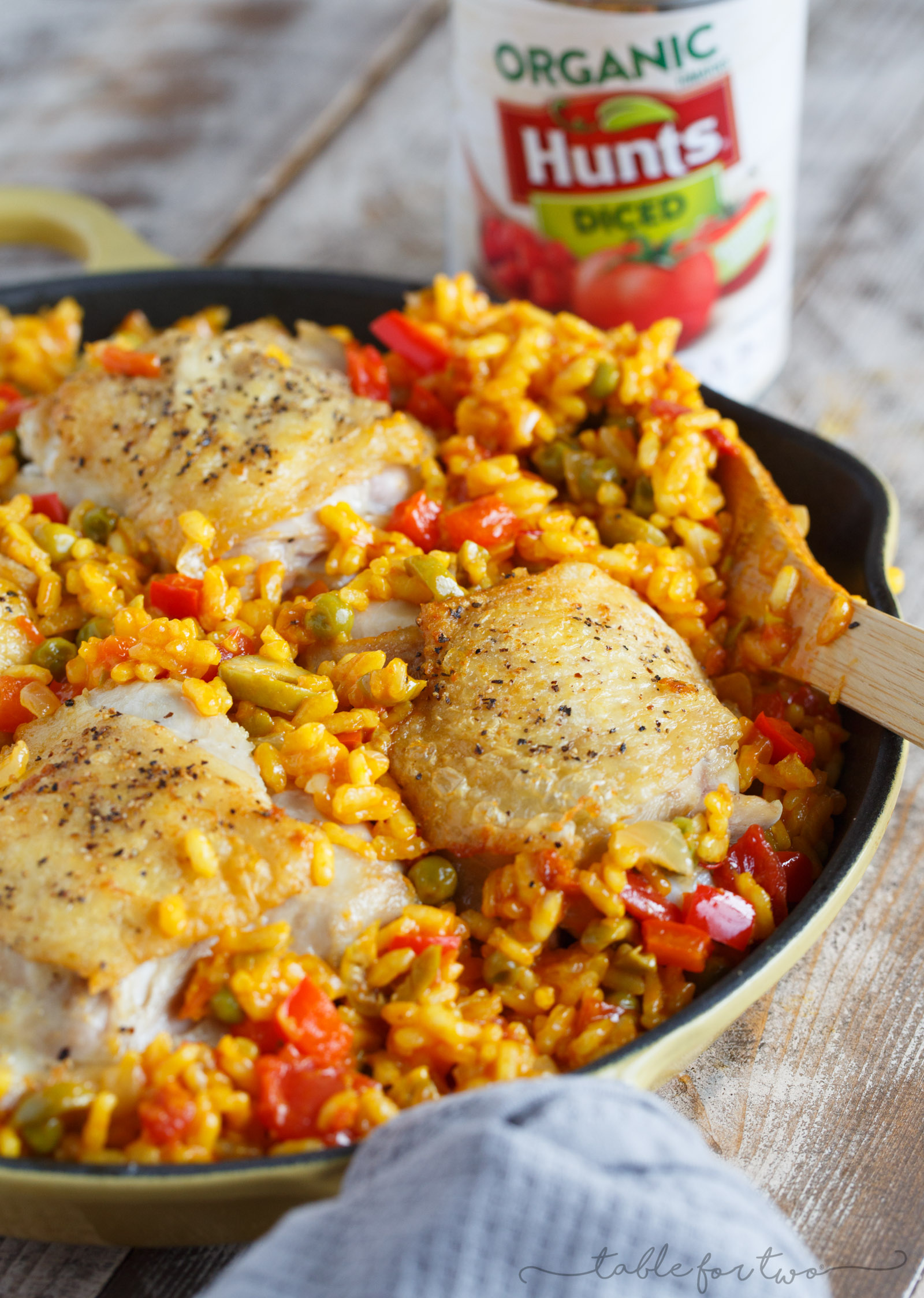 arroz con pollo table for two by julie wampler