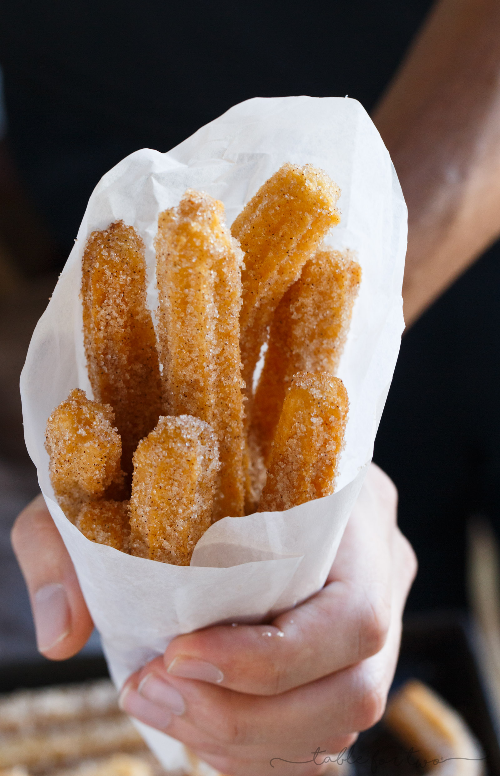 Making homemade Mexican churros is easier than you think! These cinnamon sugary fried dough of goodness will transport you right to Mexico without the cost of airfare ;)