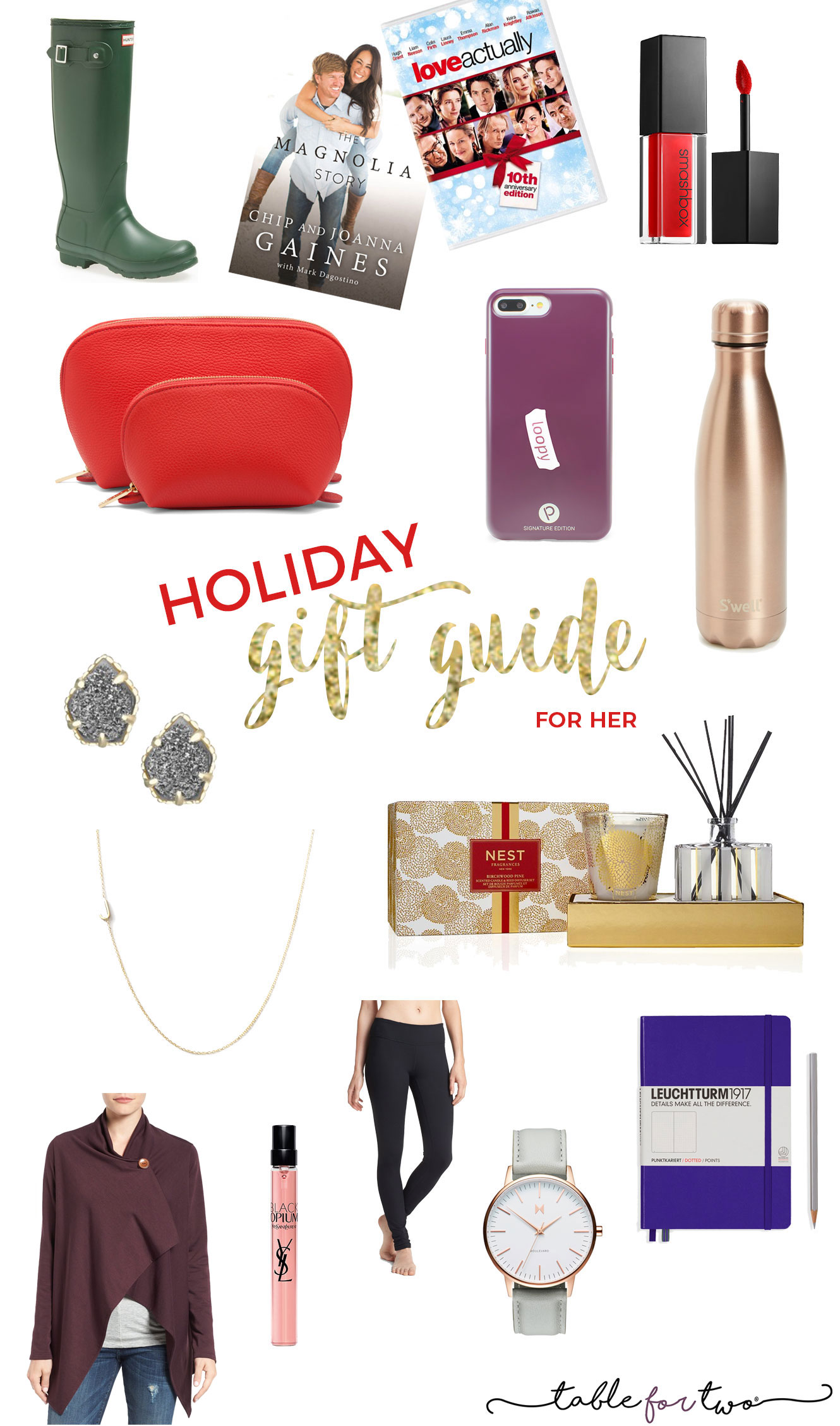 2016 Holiday Gift Guide For Her Table For Two