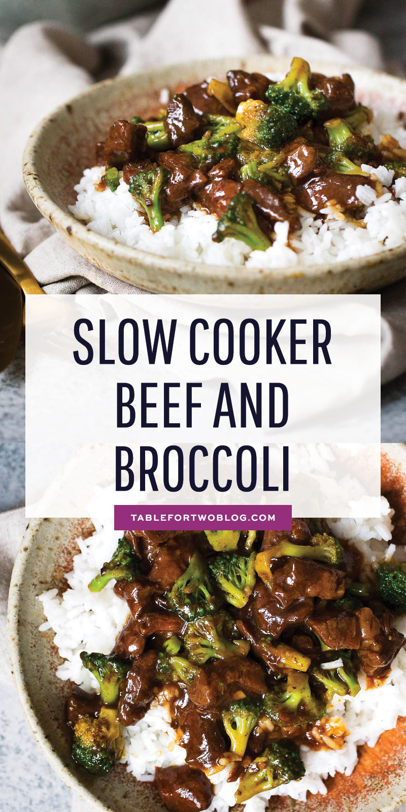Slow cooker beef and broccoli is easy to make at home and such a warm comforting meal to have in a big bowl of rice! Much better than calling take-out; simply whip out your slow cooker and make this beef and broccoli at home! #slowcooker #beefandbroccoli #takeout #crockpot