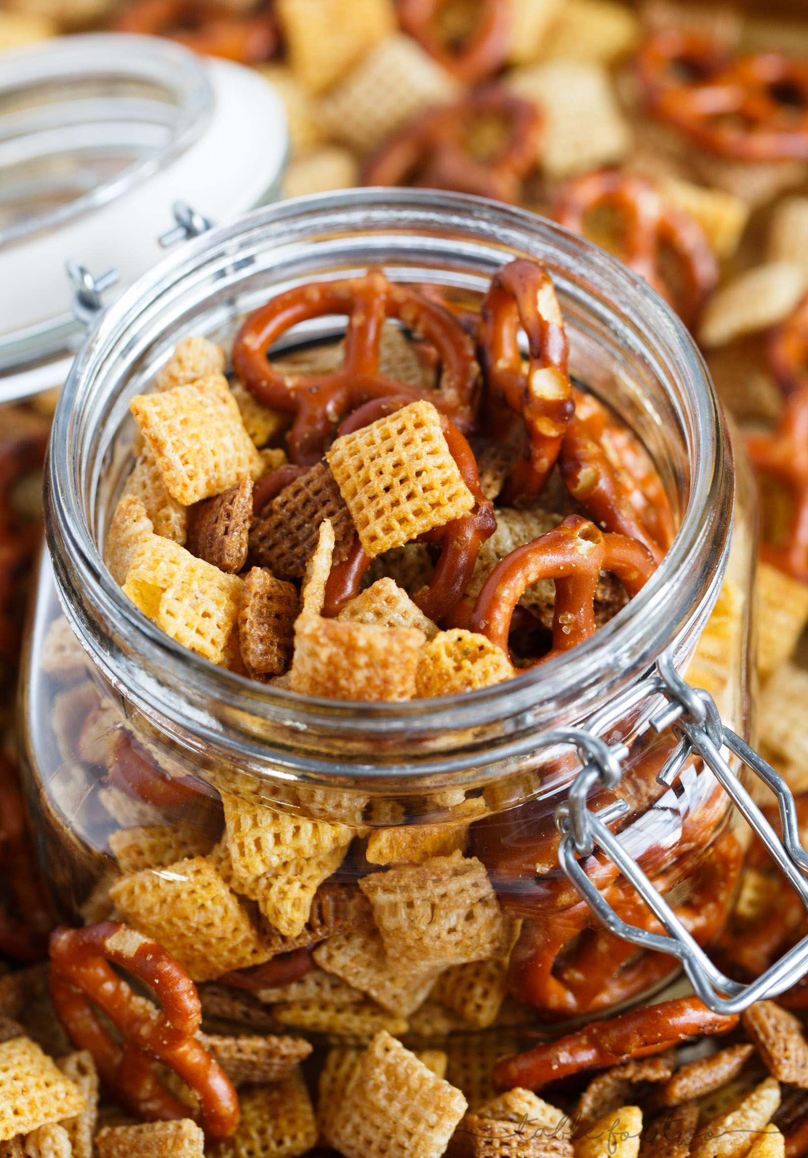 Chex mix made at home is great year round especially when you have the craving for a snack! It's so much better than store-bought because YOU control what ingredients go into your chex mix!