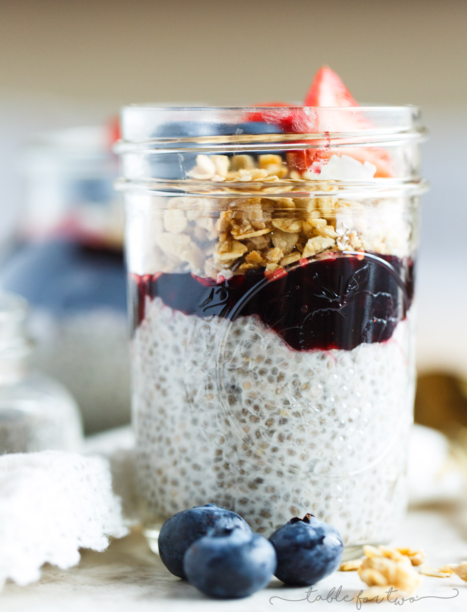 Coconut chia seed pudding with berries and granola is an easy breakfast option packed with flavor and nutrients! It's loaded with fiber, protein, Omega-3 fatty acids and various micronutrients!