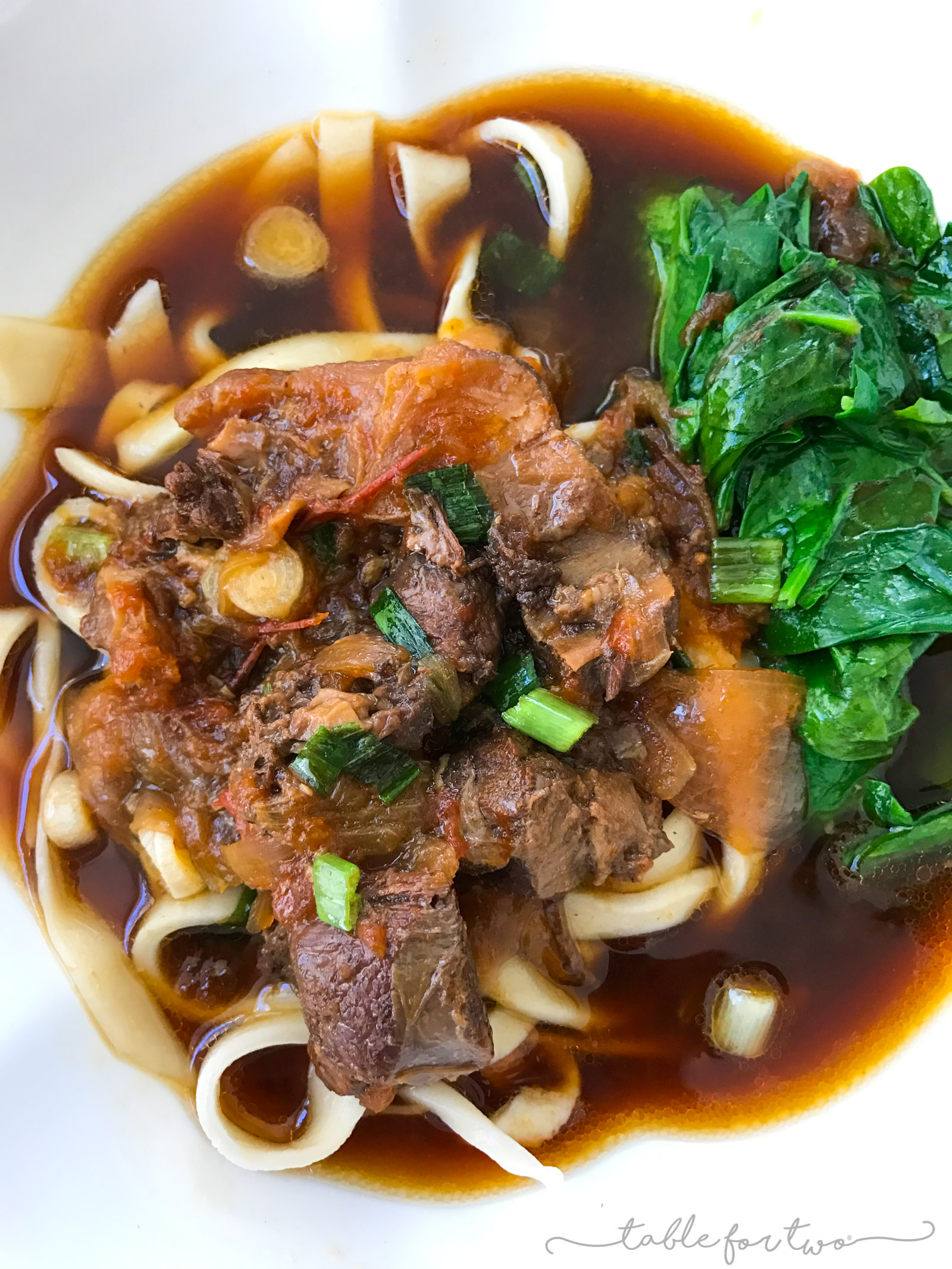 Using your Instant Pot or pressure cooker, you can make this deliciously flavorful, tender, and cozy Taiwanese beef noodle soup right at home!