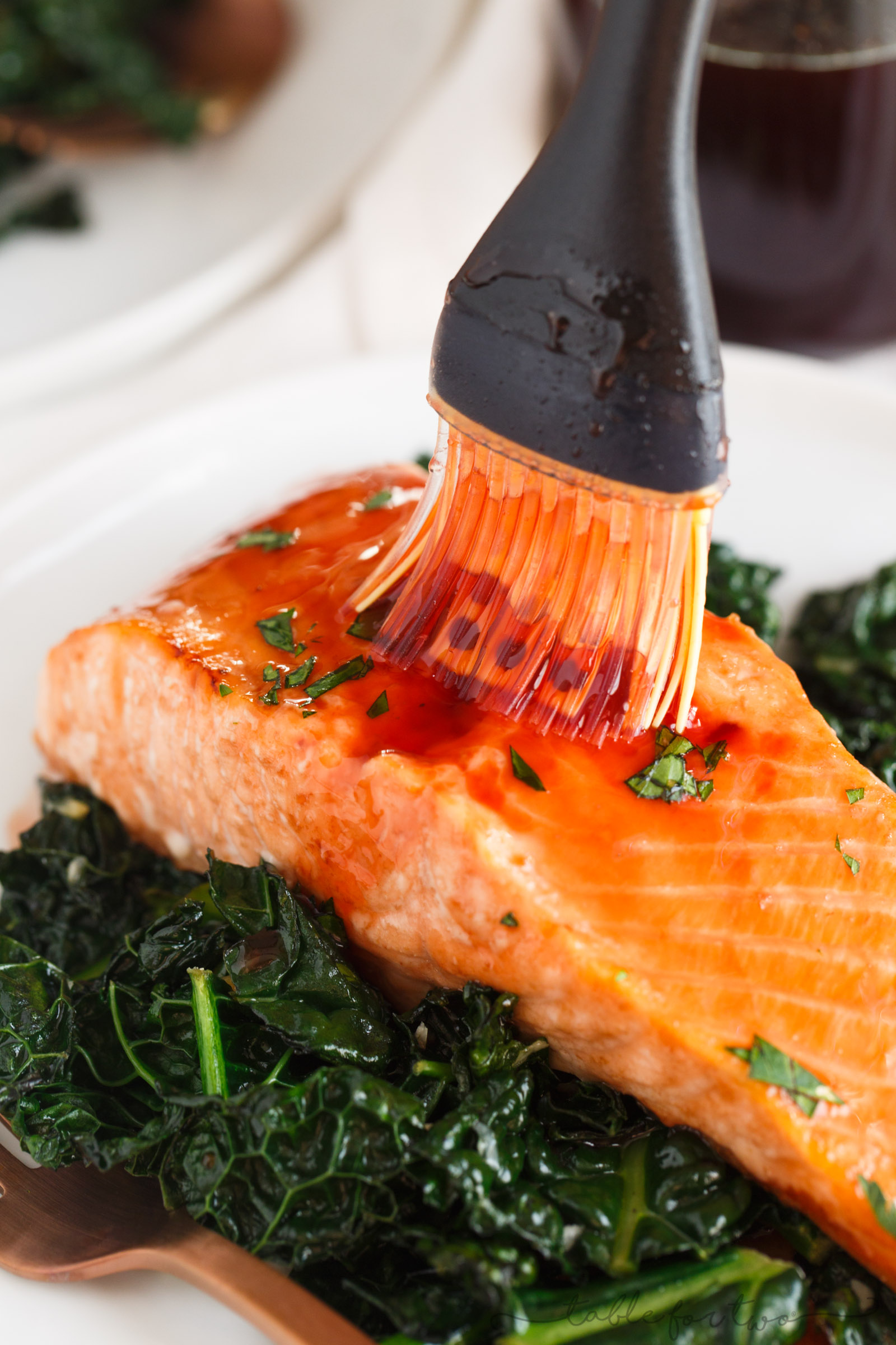 A sweet, tangy, and spicy glaze is generously topped on salmon in this cherry chipotle glazed salmon recipe! You'll discover how versatile this glaze is, as well!