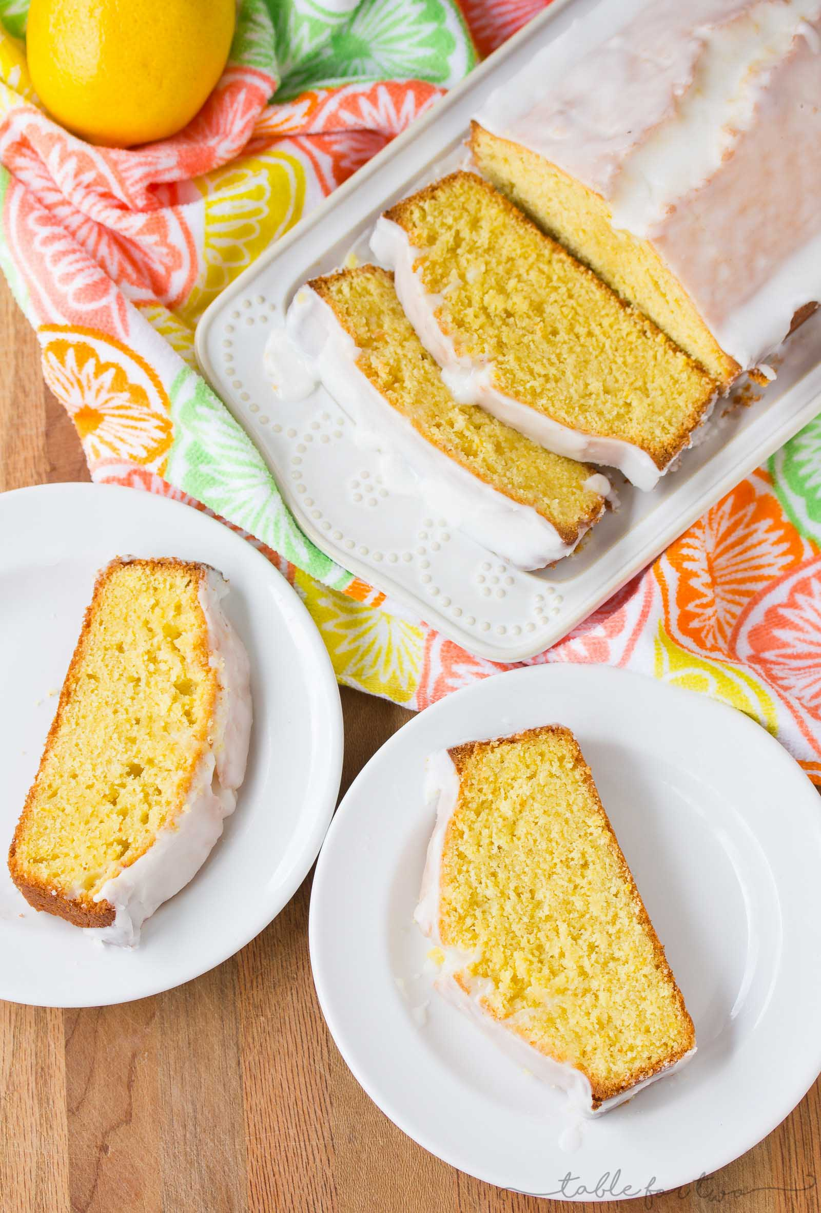 This Starbucks copycat lemon pound cake recipe will bring you a feeling of Spring in your kitchen! The lemon flavor bursts in every bite. It's so fresh and fragrant!