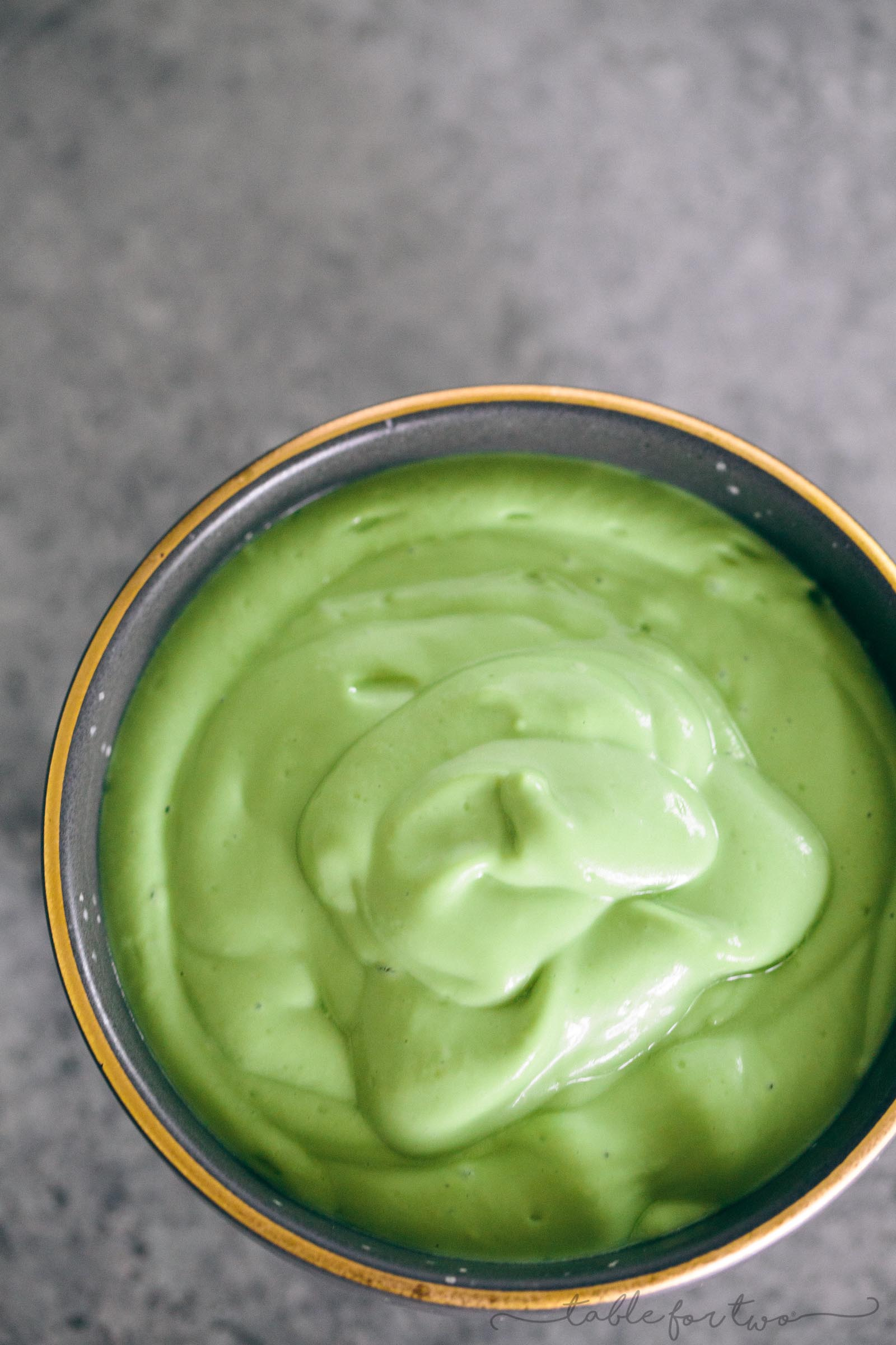 A delicious creamy avocado green goddess yogurt dressing that you can virtually use on anything!