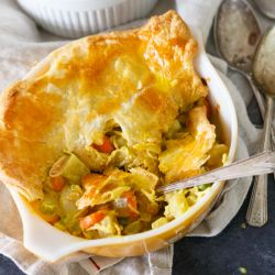 Curry turkey pot pie is a unique and flavorful approach to using up turkey from Thanksgiving leftovers! The spice and overall taste of this pot pie will have you loving all the leftovers!