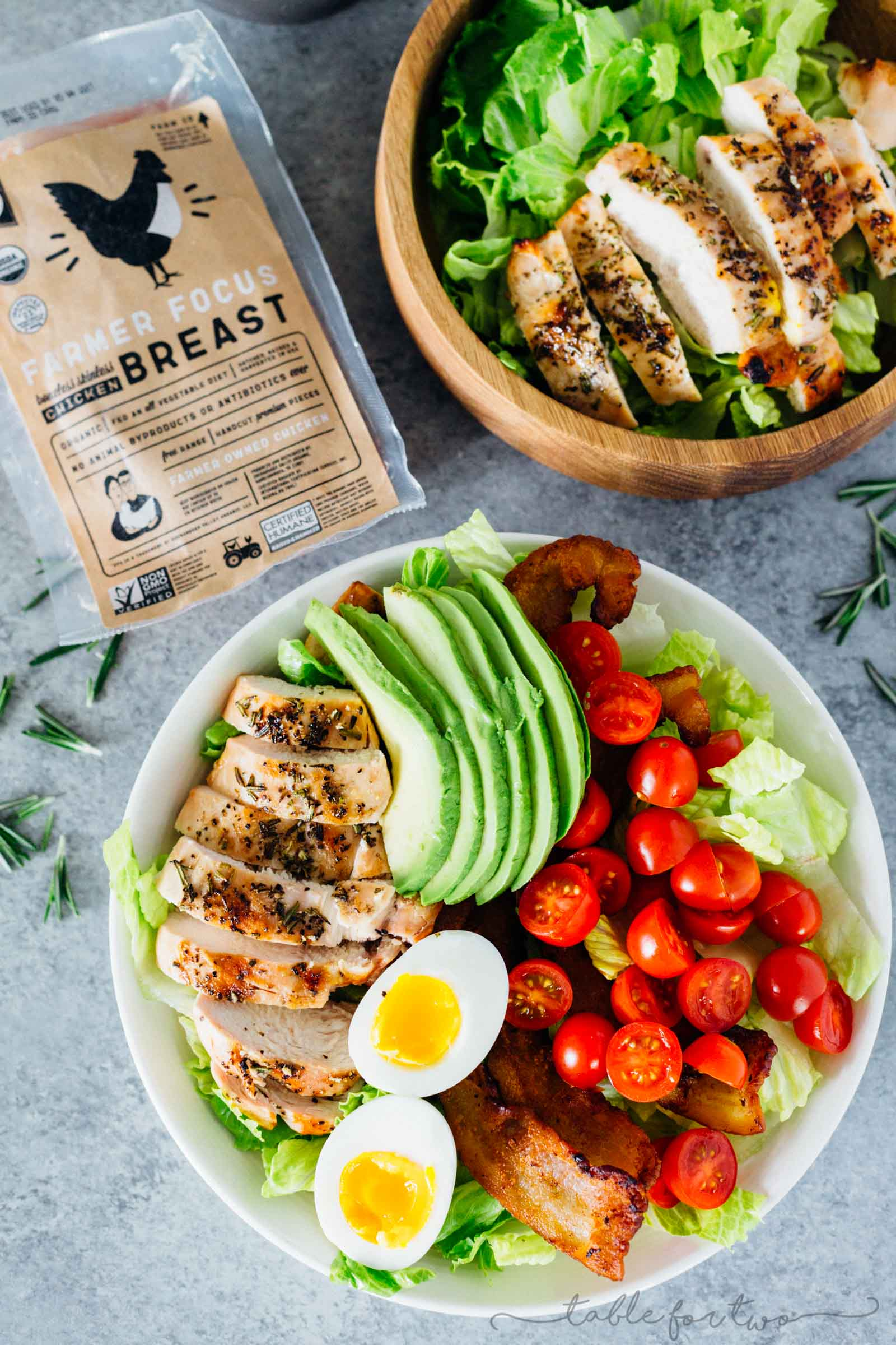 An easy grilled chicken recipe for grill season! Throw this grilled rosemary on a bed of salad leaves and top the salad with your favorite toppings!