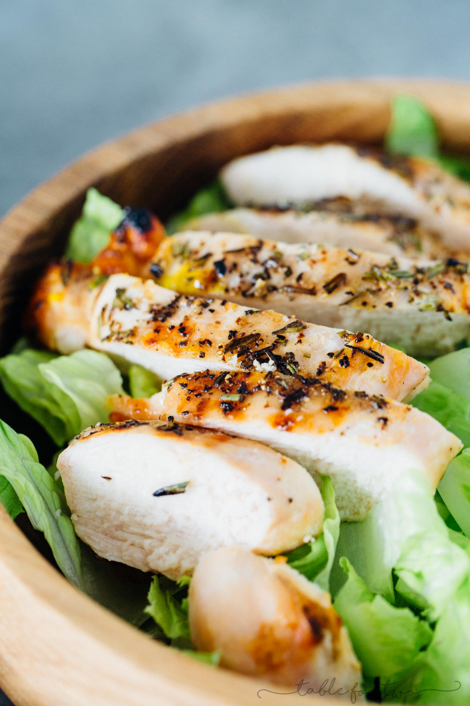 Grilled Rosemary Chicken Salad - Simple Grilled Organic Chicken Recipe