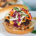 These lemongrass pork burgers offer an aromatic profile of citrus and spice! You will love how fragrant the flavors are and your tastebuds will be rejoicing! A great burger option when you're tired of the same old, same old.