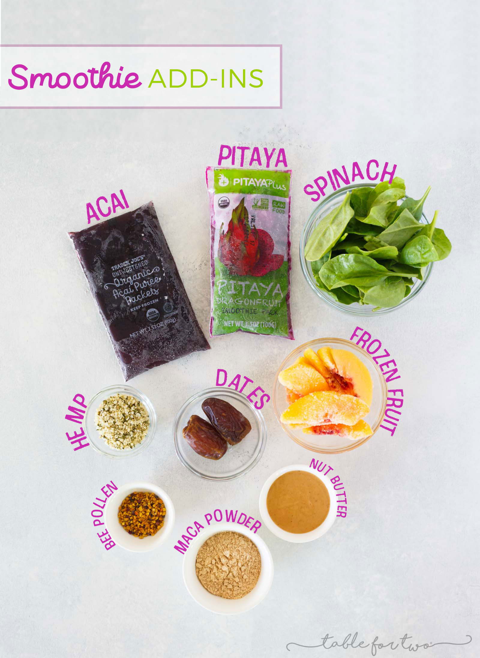 My staple smoothie ingredients and add-ins that are essential for every smoothie I make!