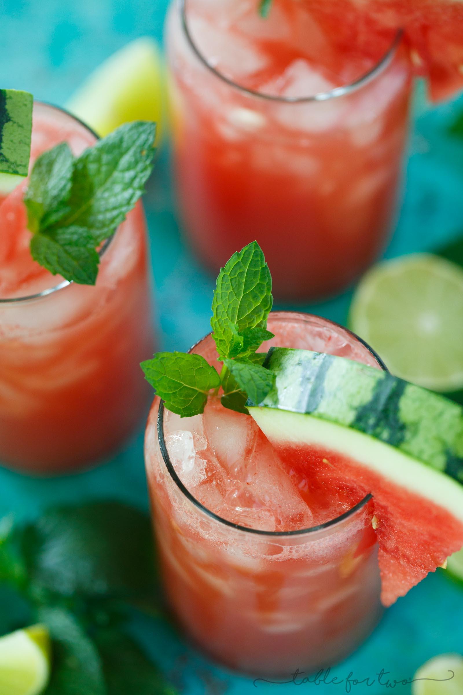 Watermelon Mint Lime Juice Watermelon Lime Agua Fresca