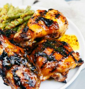 If you're looking for a quick and easy, and most importantly FAMILY-FRIENDLY weeknight meal, this honey mustard chicken with green beans is calling your name. Marinade the chicken all day while you're at work and the kids are at school and throw the chicken on the grill or in the oven when you get home! Dinner was practically made for you while you were away! The sauce is INCREDIBLE!!!