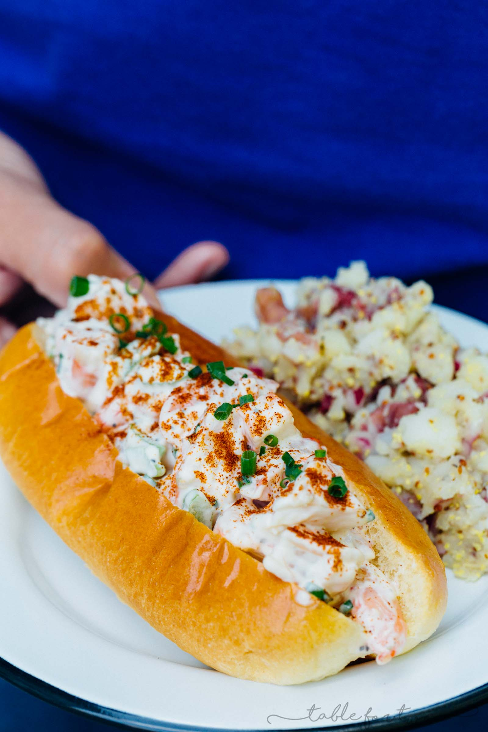 No more having to fly to New England for shrimp or lobster rolls! You can easily make these shrimp rolls at home and save on that airfare while celebrating summer in your backyard!