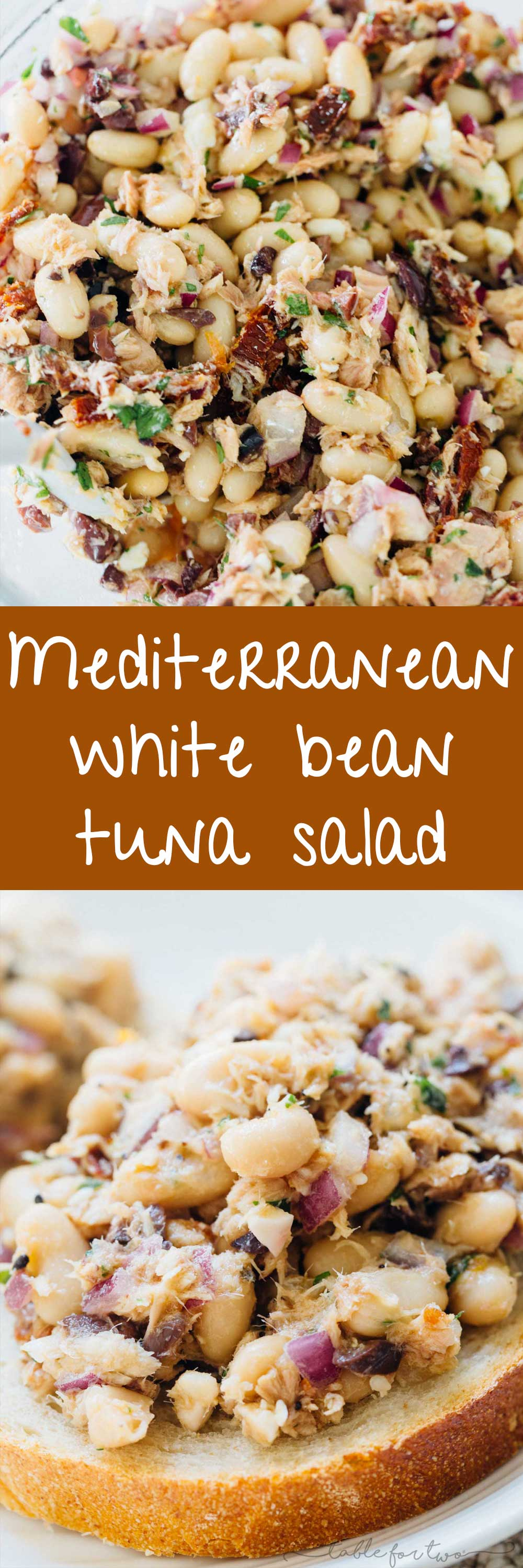 Mediterranean tuna white bean salad is full of flavorful ingredients and deliciously tasty tuna that is full of protein! An easy and healthy lunch option for those who are looking for new lunch ideas that will keep you full!