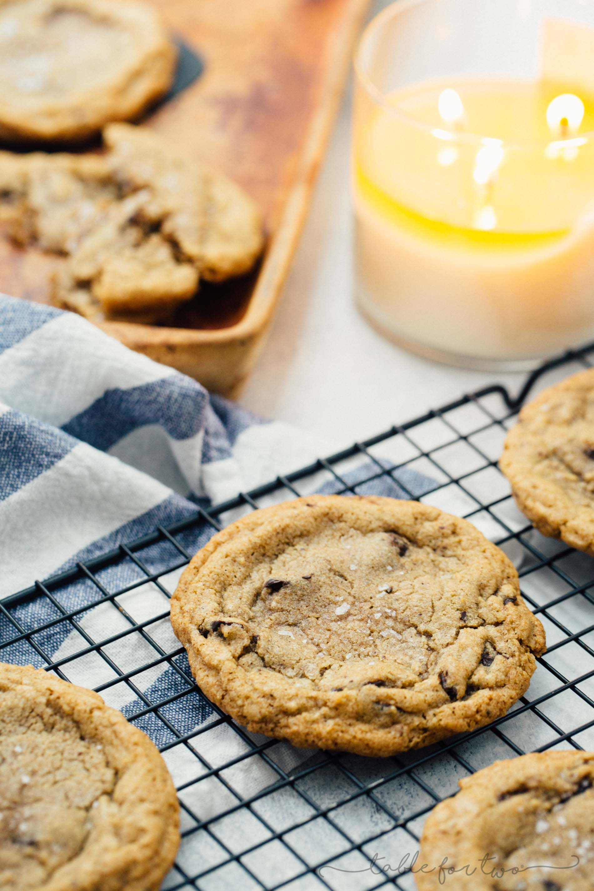 The perfect cookie has crispy edges with a soft and chewy center! These chewy chai chocolate chunk cookies do not disappoint and you'll love having a batch of these in the oven because it makes your house smell so delicious! The warming chai spice is the perfect addition to these cookies!