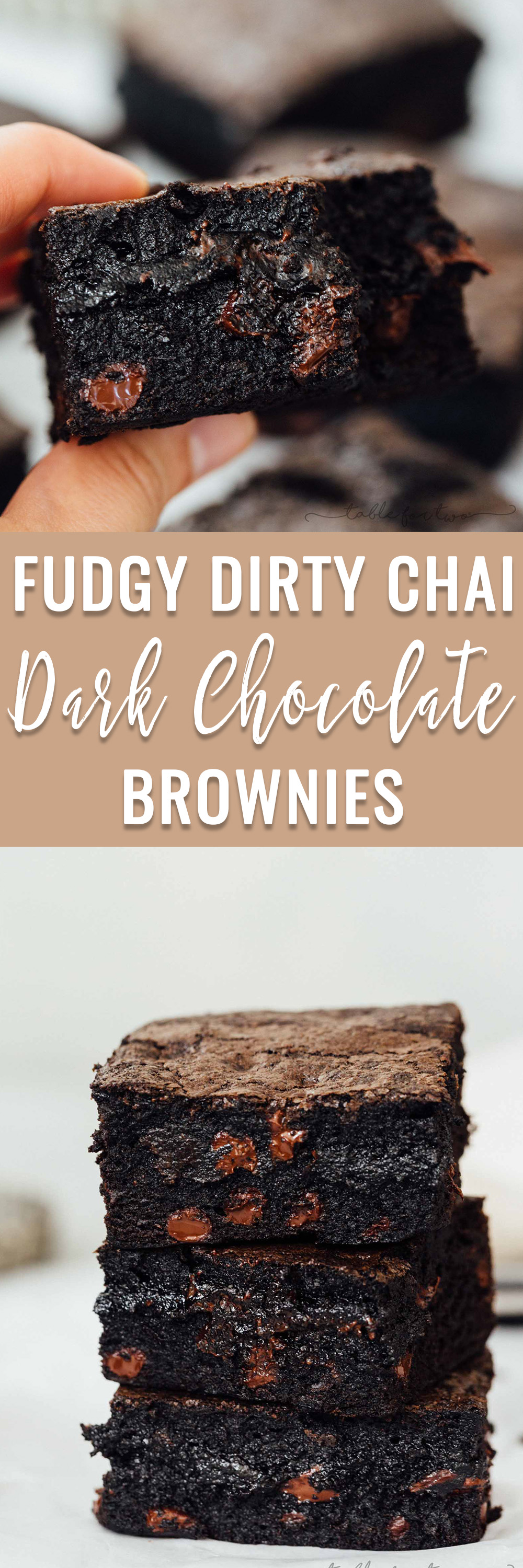 These exceptionally decadent and fudgy dirty chai dark chocolate brownies will elevate your brownie experience. You won't be able to resist just one! The hardest part is waiting for them to bake and then cool!