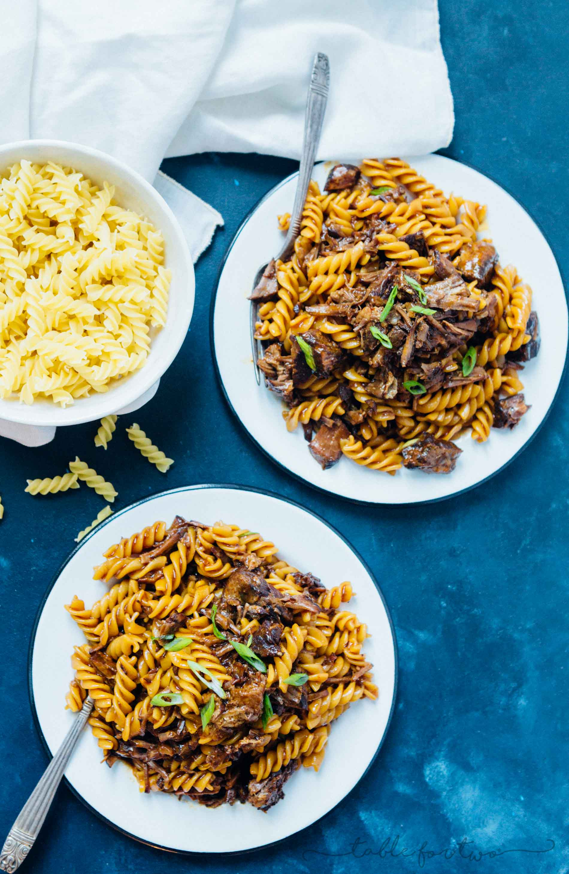 This pressure cooker (Instant Pot) braised Korean beef ragu has got spice, depth of flavor, and so much goodness. Best part? Pressure cooker friendly which means super tender and fall apart beef in about 40 minutes! This is the stick to your ribs dish you'll want when you are in the mood for a rich and dense dish!