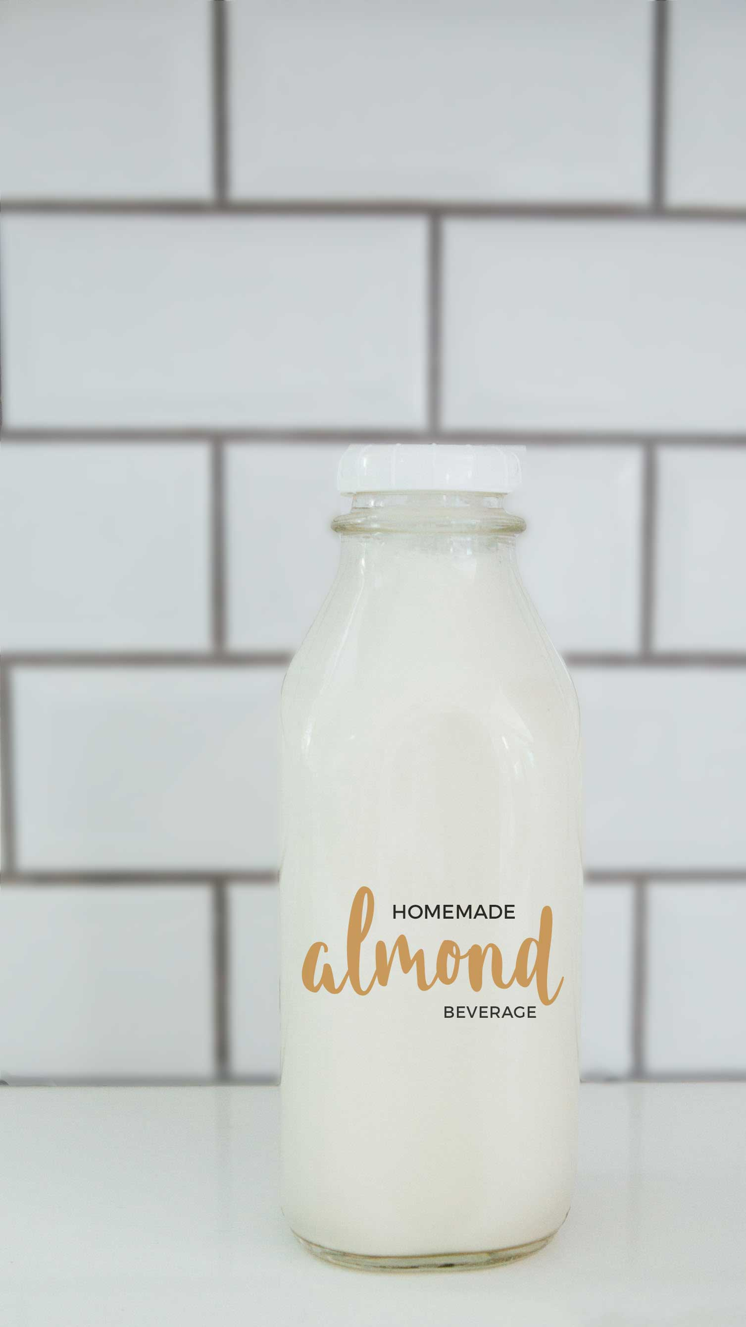 Making your own almond (milk) beverage at home is super easy and it seriously tastes so much cleaner and better than the store-bought kind. You know exactly what goes into it — almonds and water — and you can add additional flavors if you desire!