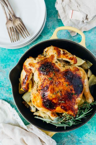 Ever thought to make a whole chicken in the pressure cooker? It comes out so tender and juicy! A great alternative to the regular bird on Thanksgiving Day and a way to free up oven space!