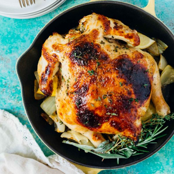Pressure Cooker Honey Butter And Herb Roasted Chicken