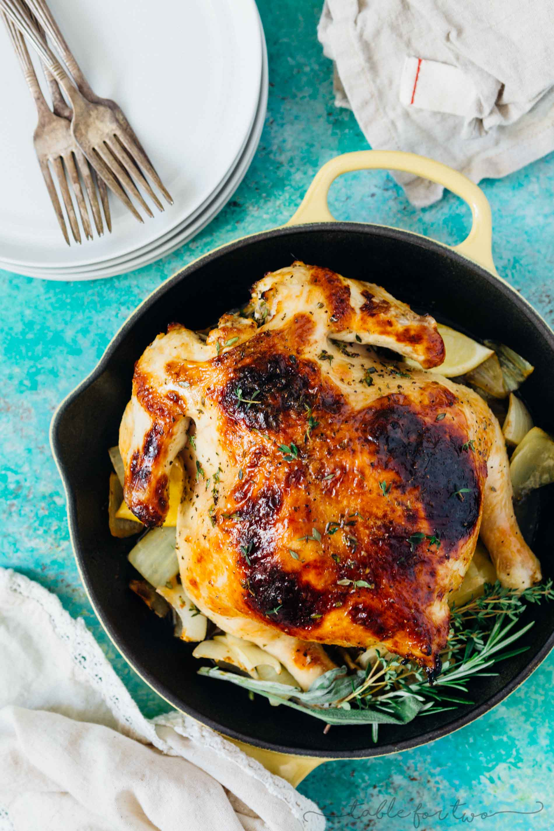 Pressure Cooker Honey Butter And Herb Roasted Chicken Instant Pot