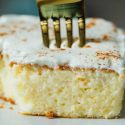 Eggnog tres leches cake is the perfect light, airy, and moist cake for the holidays. Whether you love or hate eggnog, this cake will make anyone love it and it's perfectly festive for the holiday season!
