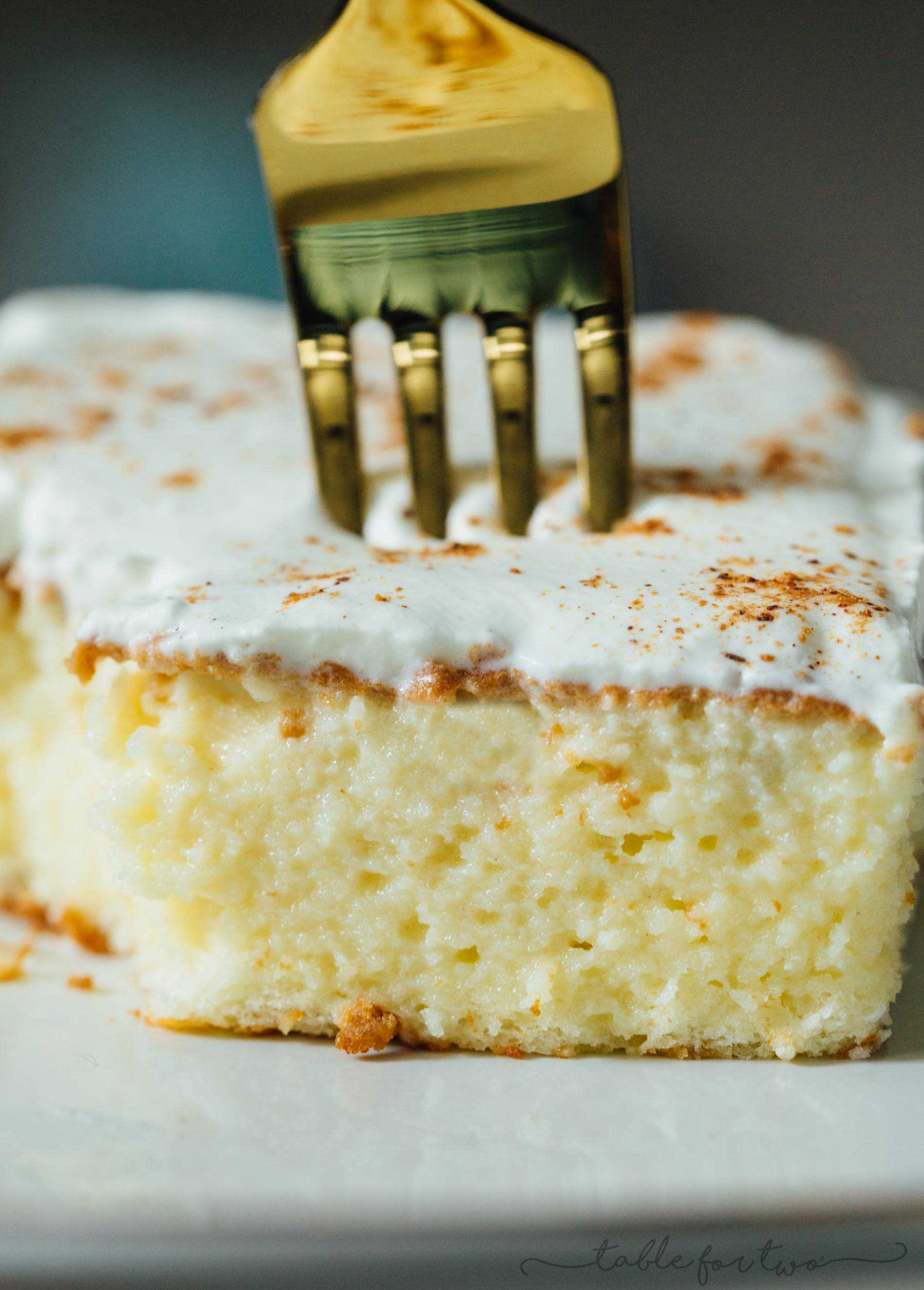 Eggnog Tres Leches Cake Tres Leches Cake made with Eggnog