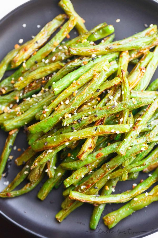 Garlic Roasted Green Beans Simple Green Beans Side Dish