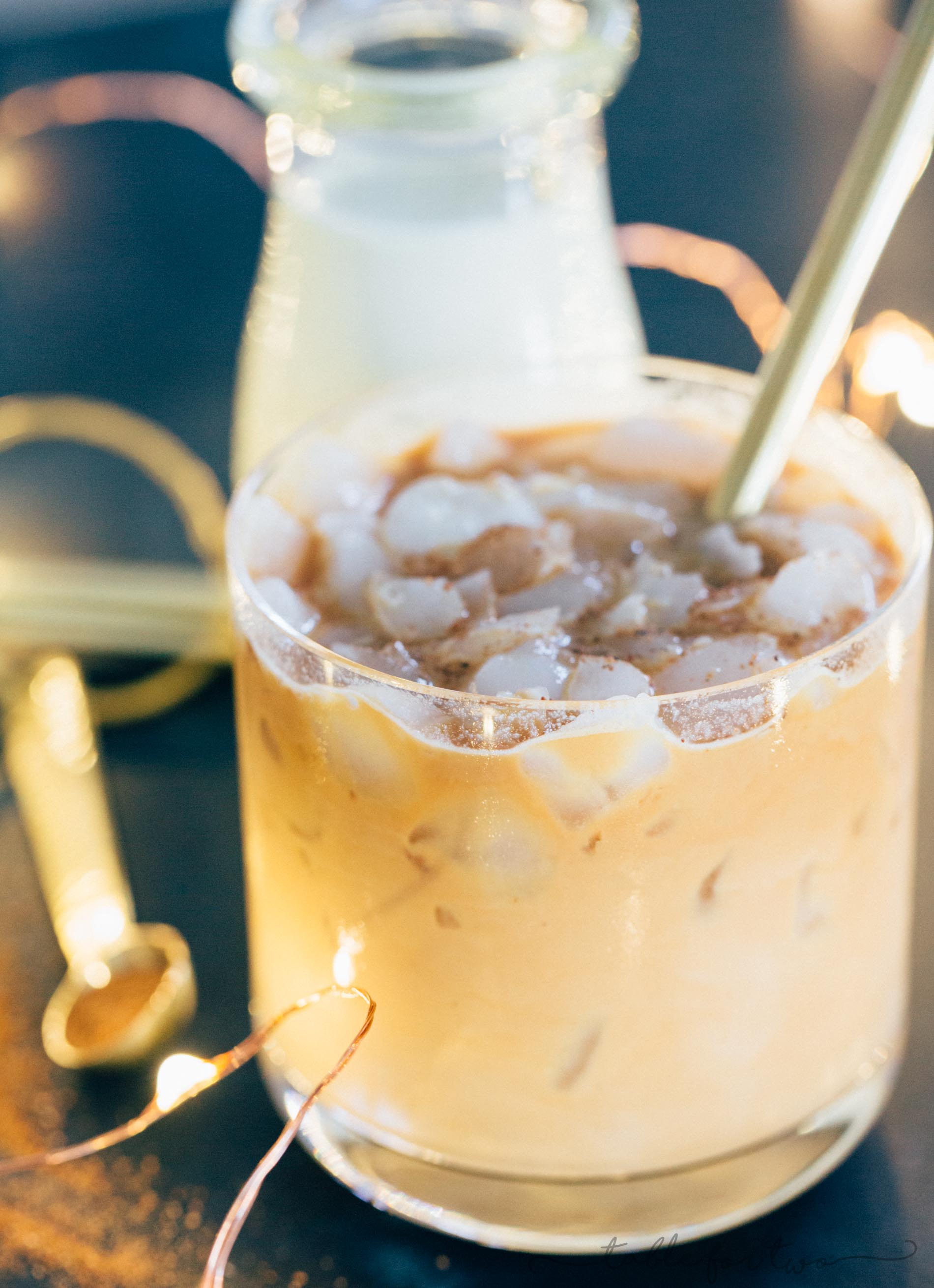 Need some pep in your step during the holidays? This iced eggnog latte is a festive and fun drink that will help with your energy levels throughout the day! Sip on this around the Christmas tree or in front of the fireplace. Anywhere you choose, it is sure to be creamy and delicious!