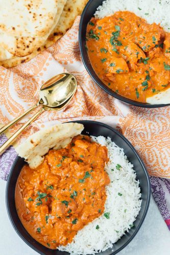 A traditional classic Indian dish; this stovetop butter chicken recipe is perfect for all your Indian restaurant cravings! #butterchicken #indian #recipe #chickenrecipe #chicken