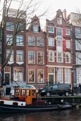 Amsterdam and its iconic row houses and canals!