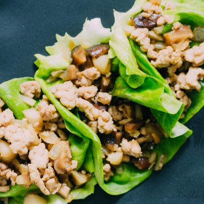 These chicken lettuce wraps are the real deal! No need to go to a restaurant and spend a ton of money for them when you can make them right in your own home. You get far more than you would get at a restaurant and you know all the ingredients that go into it!