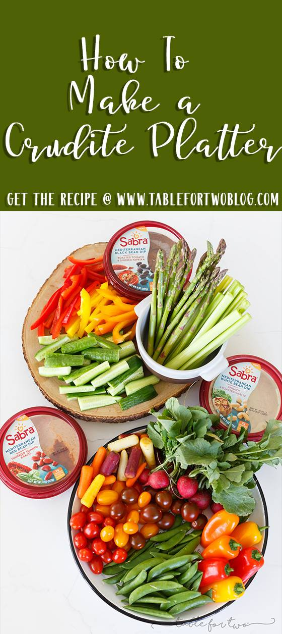 Building a crudite platter for a crowd is easier than you think! I will show you how!