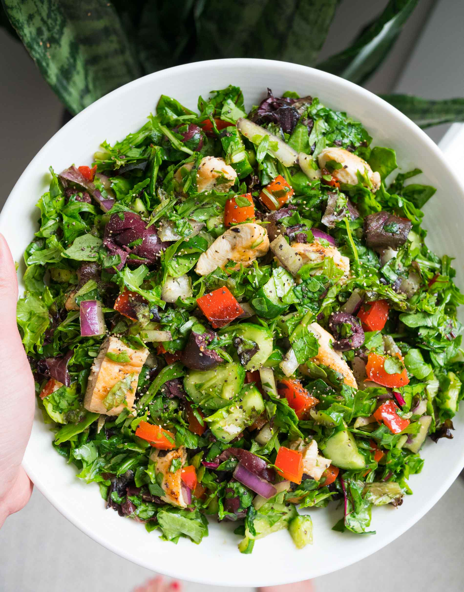 Quick Basic Chopped Salad Easy Salad Recipe With Lots Of