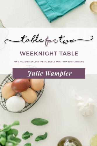 The Weeknight Table E-Cookbook by Julie Wampler