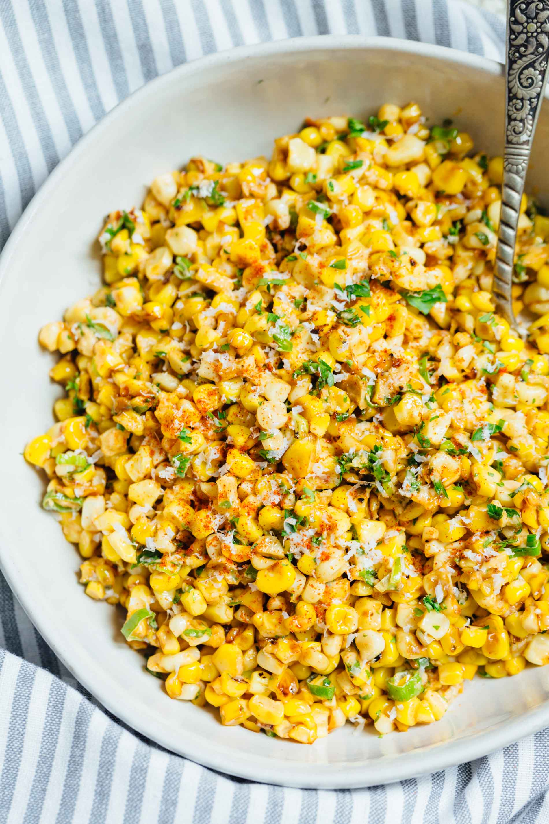 Mexican Street Corn off the Cob - Mexican Street Corn in a Bowl