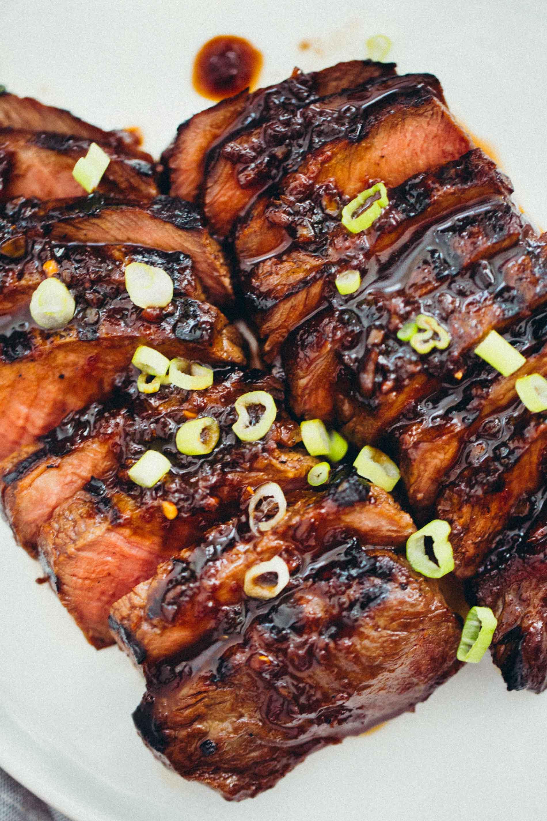 Grilled Asian Marinated Flat Iron Steak Grilled Flat Iron Steak Recipe