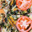 If you've never made a skillet pizza before, you should definitely give it a try! This fiery skillet pizza should be in everyone's recipe repitoire such as this habanero kale sausage skillet pizza! It is a skillet pizza that both has heat and flavor! #skilletpizza #cabot #thisisvt #ad #pizza #grilledpizza