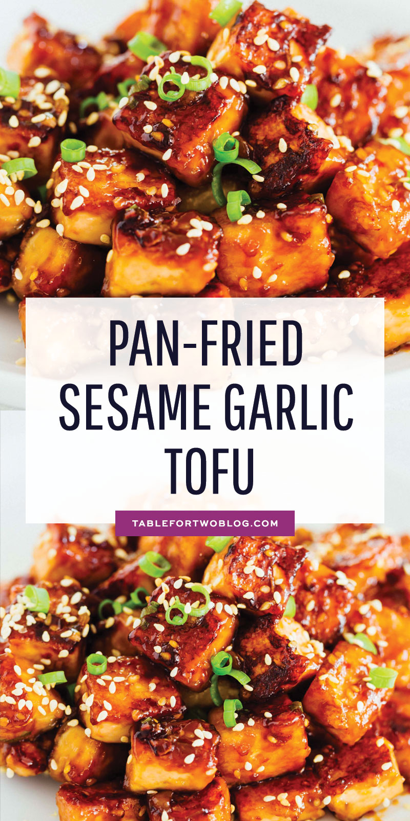 If you aren't totally 100% on board with tofu yet, this pan-fried sesame garlic tofu will have you head over heels in love with it! #tofu #tofurecipe #vegan #veganrecipes