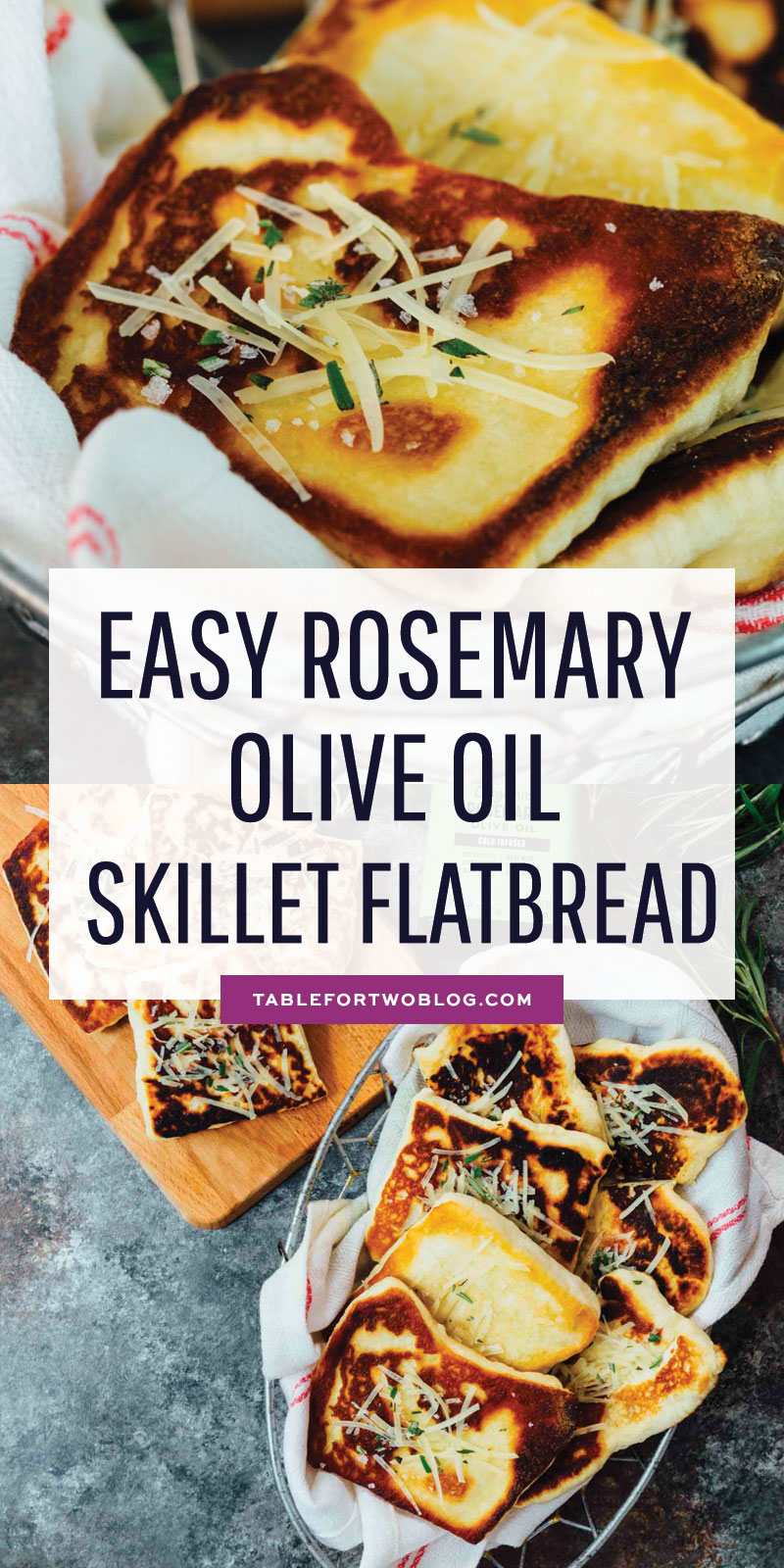 An incredibly easy skillet flatbread made with Spectrum® Culinary rosemary olive oil. Perfect for an easy party appetizer! #ad