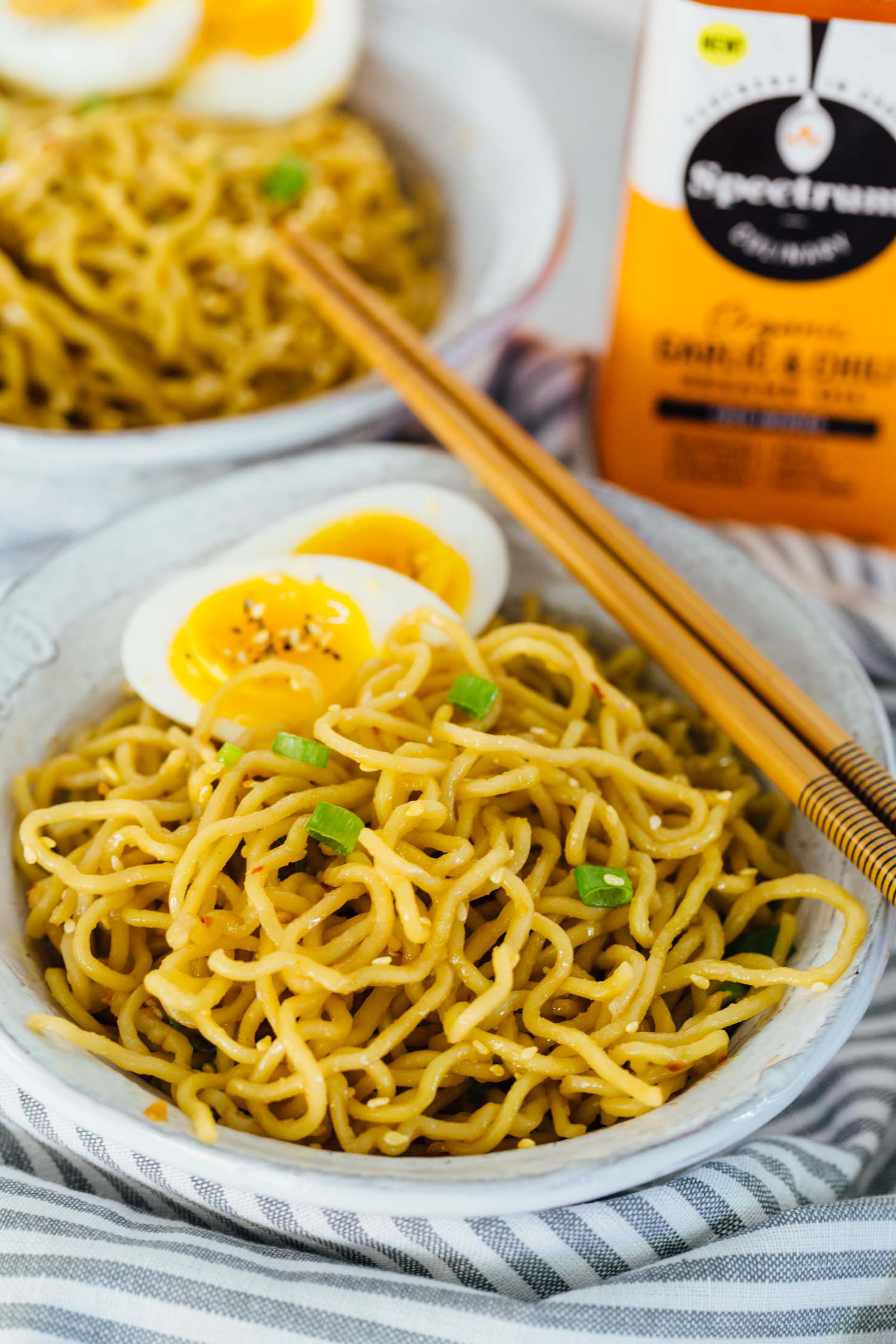 quick spicy sesame ramen takes less than 20 minutes to put together and it's got a subtle yet fiery kick! #ramen #ramenrecipe #sesameramen