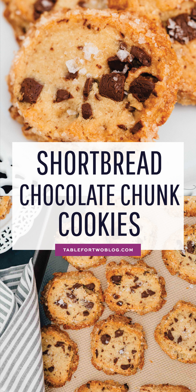 The cookies that broke the internet. These shortbread-based chocolate chip cookies are unlike any other cookie you've ever had before! You gotta give it a try! #shortbreadcookies #alisonroman #chocolatechunk #cookies #cookierecipe