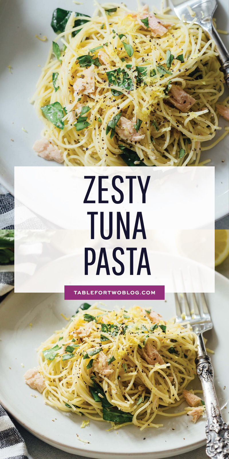 Zesty tuna pasta! #ad It's light and refreshing but has bold flavor! Quick and easy ingredients together with @BarillaUS' angel hair pasta make this one recipe you'll love for lunches and dinners every week! #PastaWorldChampionship #PassionforPasta #🍝