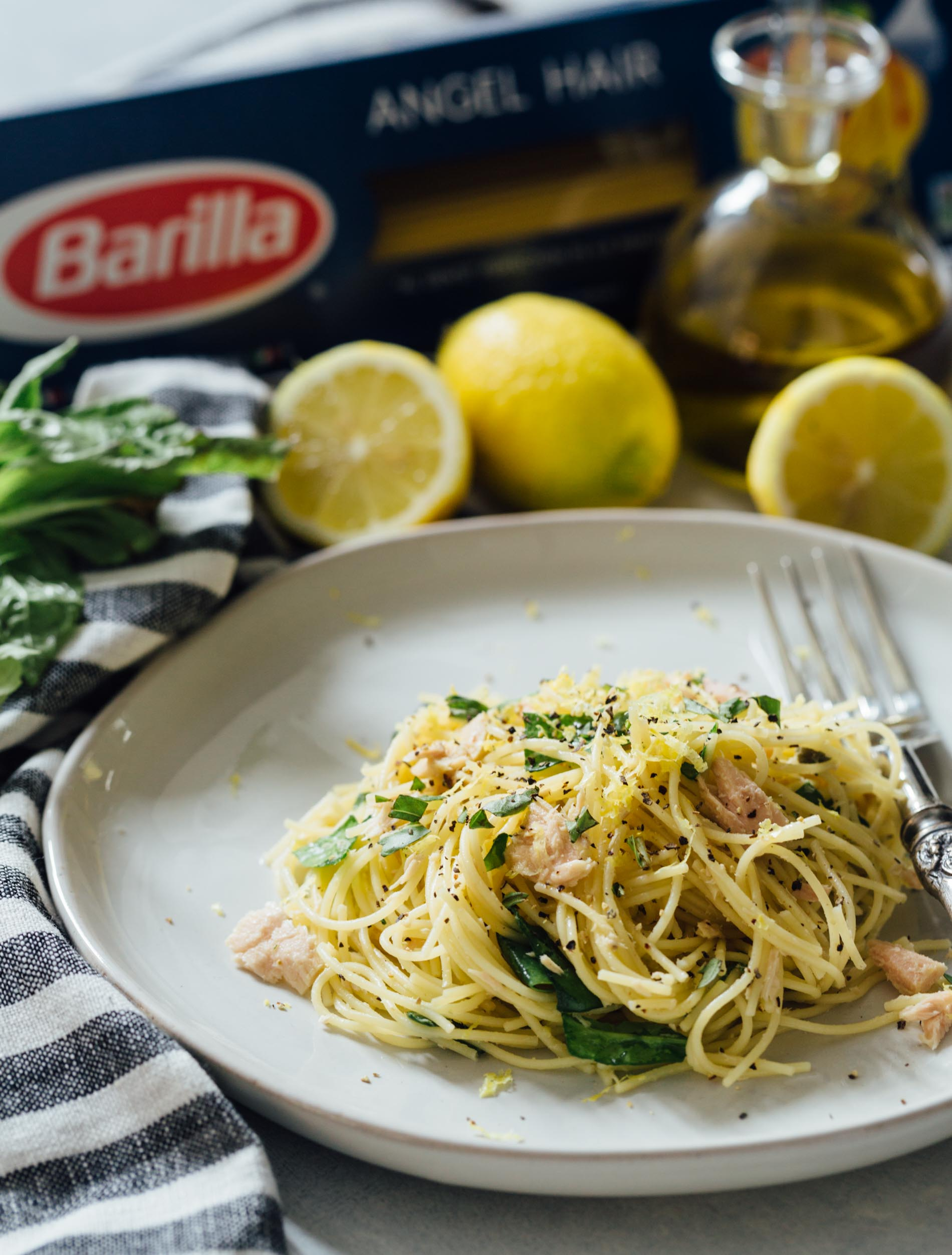 A refreshingly light yet bold and easy zesty pasta dish that uses canned tuna and lemon in a way that you may not have thought to use before!